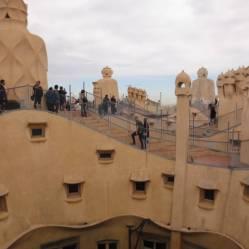 Das Dach von Casa Mila